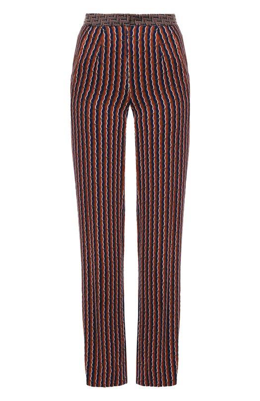 Широкие брюки прямого кроя с ярким принтом Diane Von Furstenberg S992701L16