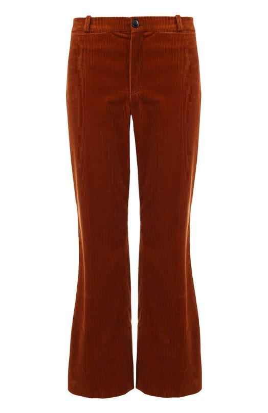 Укороченные расклешенные вельветовые брюки Balenciaga 445640/TTE01