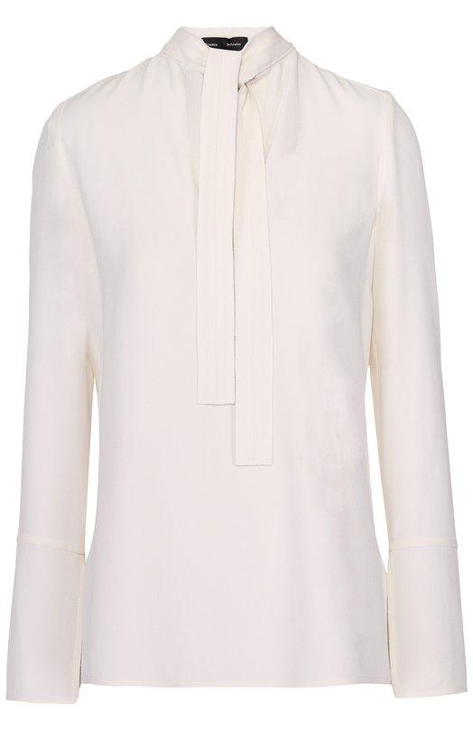 Блуза прямого кроя с воротником аскот Proenza Schouler R163430-AY011M