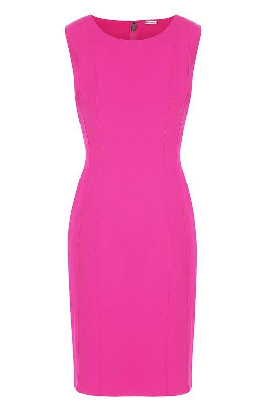Приталенное платье без рукавов с декоративной отделкой Elie Tahari E601V606
