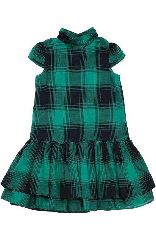 Платье из смеси хлопка и шерсти с пышной юбкой Polo Ralph Lauren H23/XZ1GJ/XY1GJ