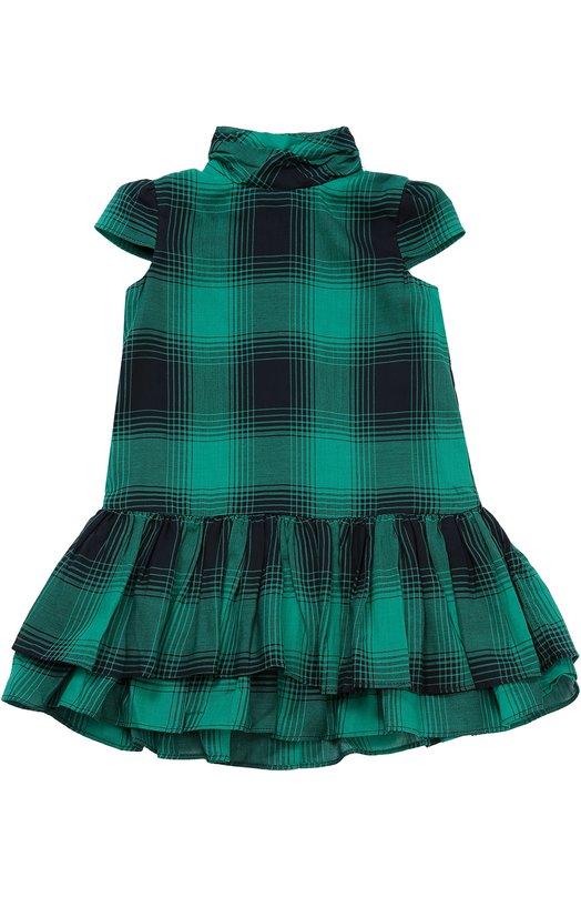 Платье из смеси хлопка и шерсти с пышной юбкой Polo Ralph Lauren S23/XZ1GJ/XY1GJ