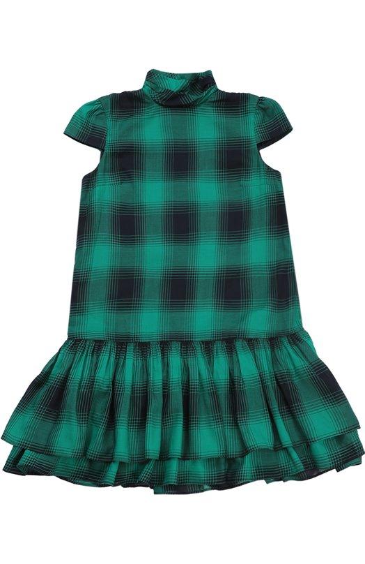 Платье из смеси хлопка и шерсти с пышной юбкой Polo Ralph Lauren G23/XZ1GJ/XY1GJ