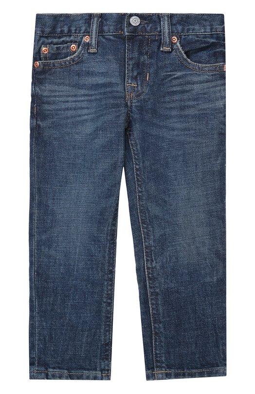 Джинсы прямого кроя с потертостями Polo Ralph Lauren T24/285F6/285F6