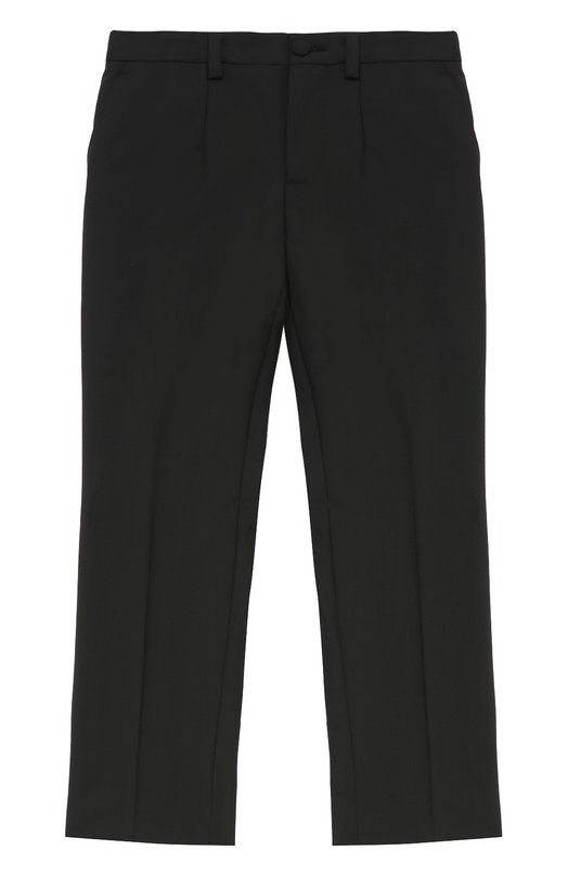 Шерстяные брюки прямого кроя Dolce &amp; GabbanaБрюки<br><br><br>Размер Years: 2<br>Пол: Мужской<br>Возраст: Детский<br>Размер производителя vendor: 92-98cm<br>Материал: Шерсть: 97%; Эластан: 3%; Подкладка-вискоза: 100%;<br>Цвет: Черный