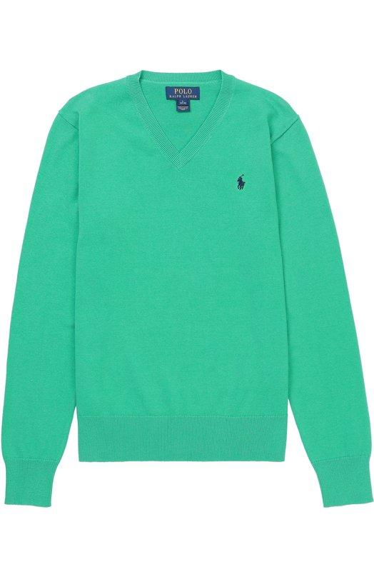 Хлопковый пуловер с логотипом бренда Polo Ralph Lauren B40/XZ1I6/XY1I6