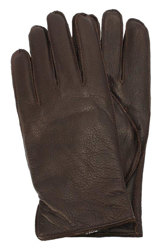 Кожаные перчатки с шерстяной подкладкой BOSS 50321609