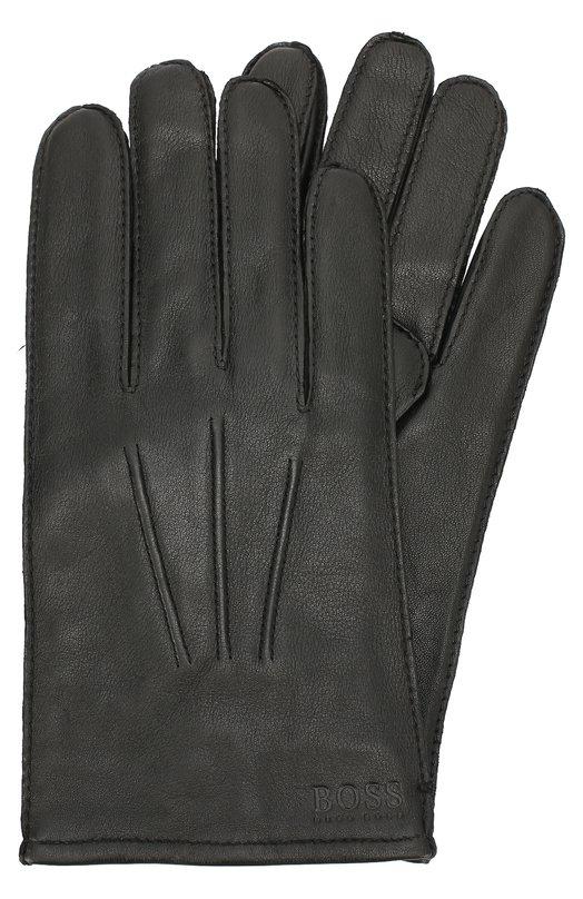 Кожаные перчатки с шерстяной подкладкой BOSS 50321614