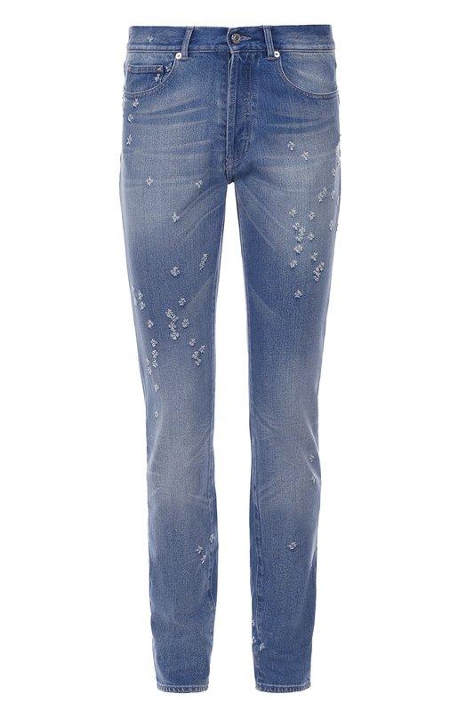 Джинсы прямого кроя с потертостями Givenchy 16F/0907/485