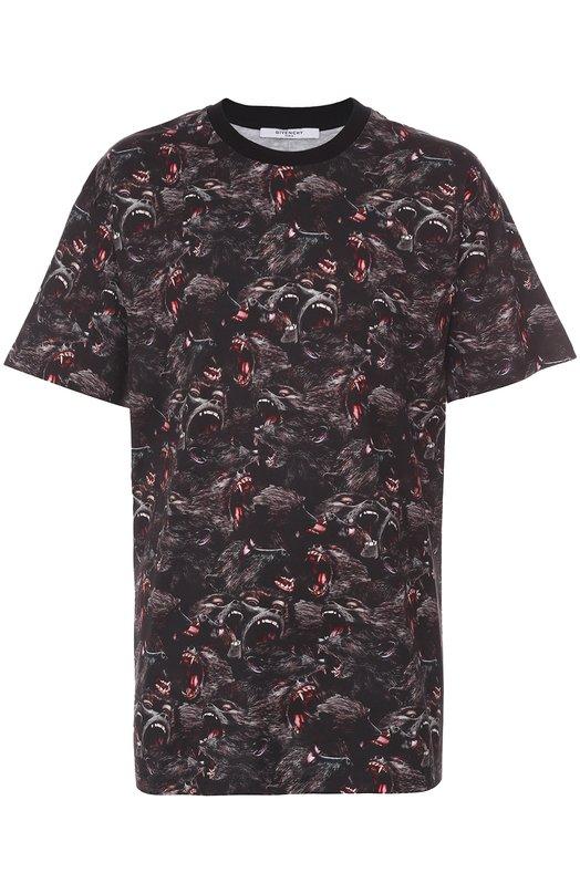 Хлопковая футболка с принтом Givenchy 16F/7003/722