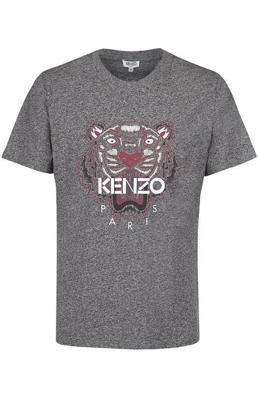 Хлопковая футболка с принтом Kenzo F665TS0504YJ