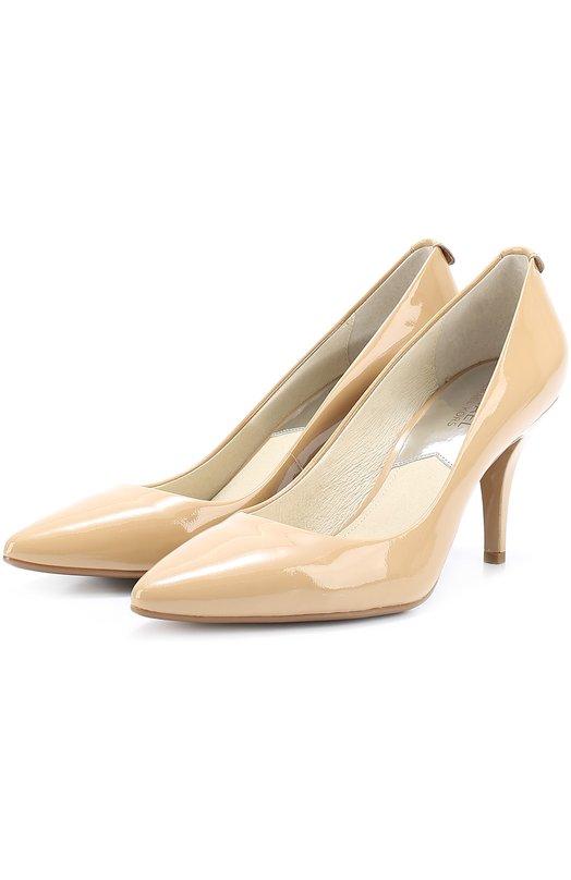 Купить Лаковые туфли Flex на шпильке MICHAEL Michael Kors, 40S1MFMP2A, Вьетнам, Бежевый, Кожа натуральная: 100%; Стелька-кожа: 100%; Подошва-резина: 100%; Подкладка-кожа: 100%; Кожа: 100%;