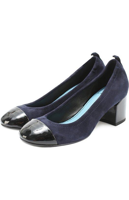 Замшевые туфли с лаковым мысом Lanvin FW-BAPB2G-S0PA-A16