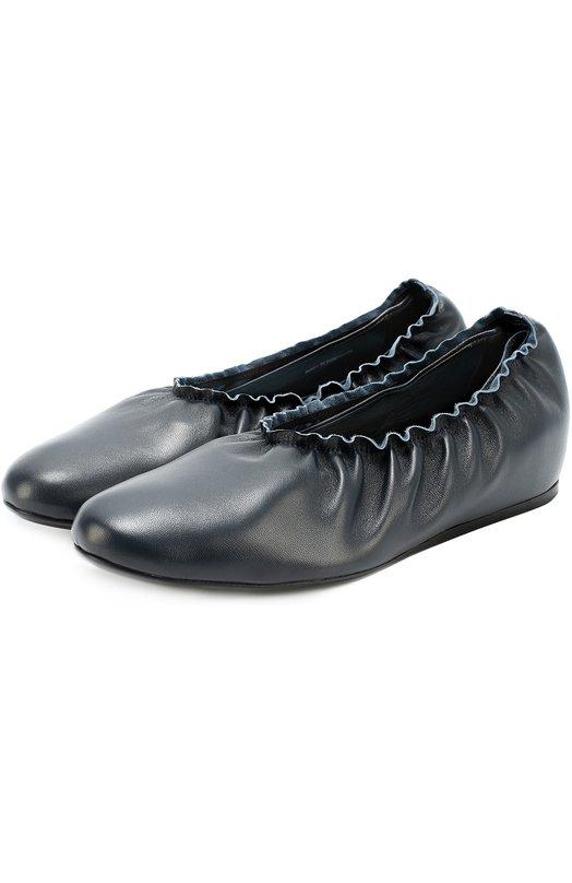 Кожаные балетки с эластичной вставкой Lanvin FW-BAPB1P-EXAA-A16