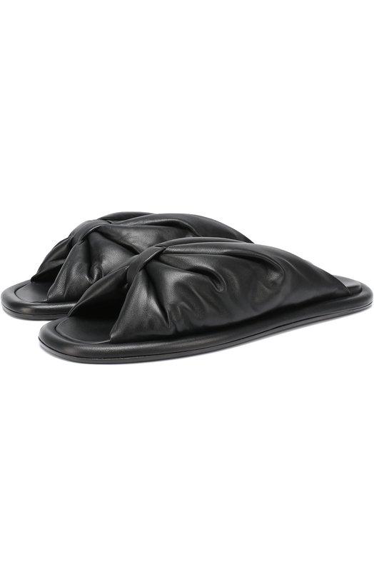 Кожаные сабо с перемычкой Balenciaga 454472/WAWN0