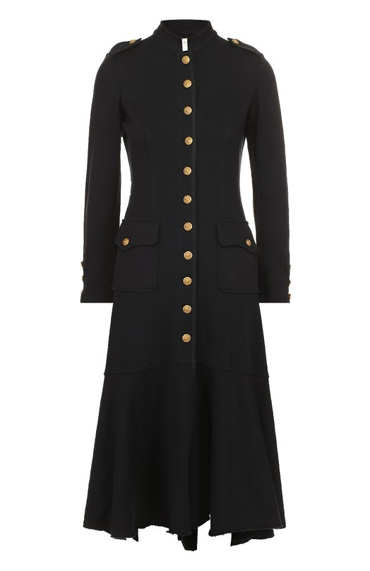 Приталенное пальто асимметричного кроя контрастными пуговицами Denim&Supply by Ralph Lauren 288571237