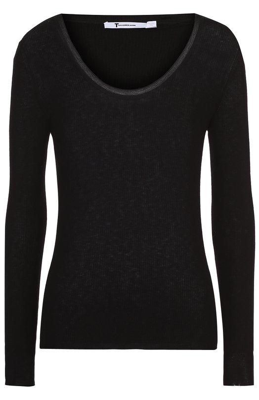 Облегающий пуловер с круглым вырезом T by Alexander Wang 402300R17