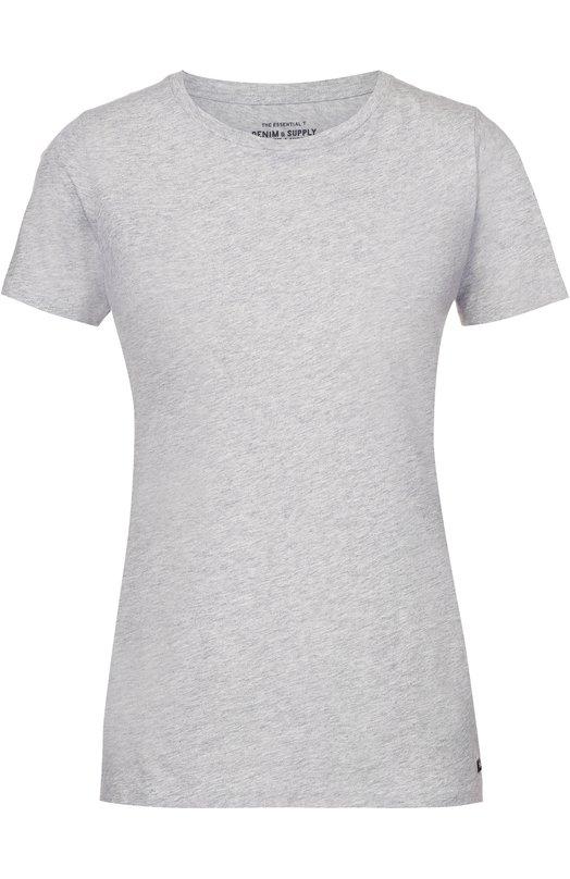 Хлопковая футболка прямого кроя с круглым вырезом Denim&Supply by Ralph Lauren 288633252