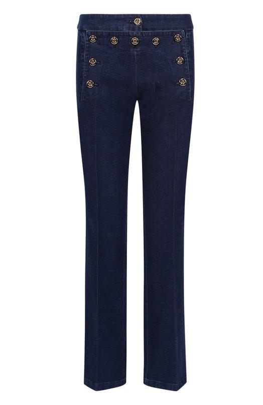 Расклешенные джинсы с контрастными пуговицами Michael Kors KRH202T/RH692