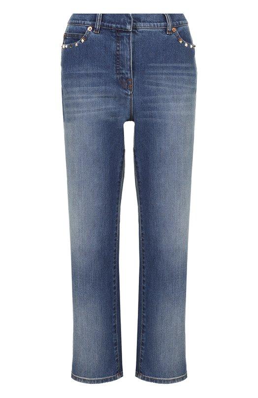 Укороченные расклешенные джинсы с шипами Valentino MB3DD03G/2PY