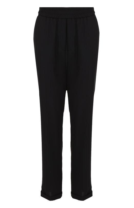 Укороченные брюки с карманами и эластичным поясом Escada SportБрюки<br><br><br>Российский размер RU: 46<br>Пол: Женский<br>Возраст: Взрослый<br>Размер производителя vendor: 38<br>Материал: Шерсть: 100%;<br>Цвет: Черный