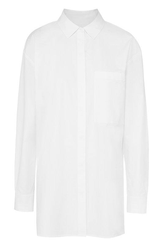 Удлиненная блуза свободного кроя с накладным карманом DKNY N362060AC