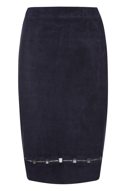 Замшевая юбка-миди с перфорацией Elie Tahari E73KE306