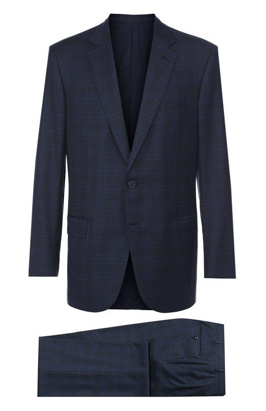 Шерстяной костюм в клетку Brioni RA30/05A6E/C0L0SSE0/2