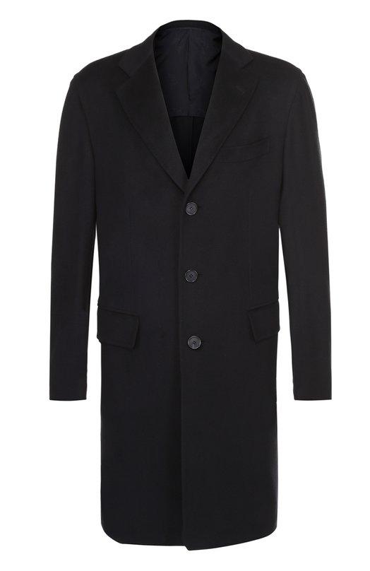 Однобортное пальто из шерсти викуньи Brioni R070/P6361