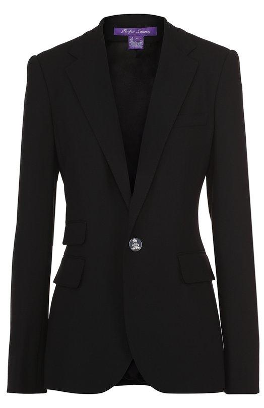 Жакет прямого кроя на одной пуговице с карманами Ralph Lauren 911/IXJ51/FXJ51