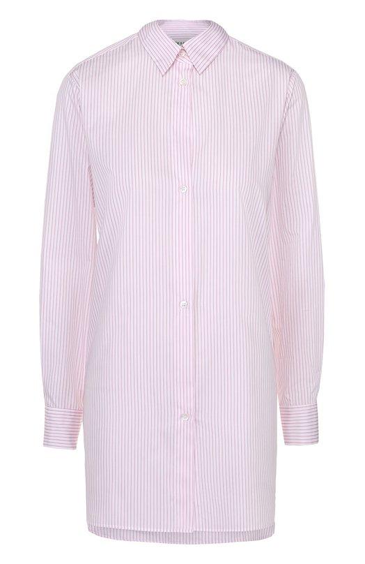 Блуза свободного кроя в полоску с декоративной отделкой Maison MargielaБлузы<br><br><br>Российский размер RU: 42<br>Пол: Женский<br>Возраст: Взрослый<br>Размер производителя vendor: 40<br>Материал: Хлопок: 100%;<br>Цвет: Розовый
