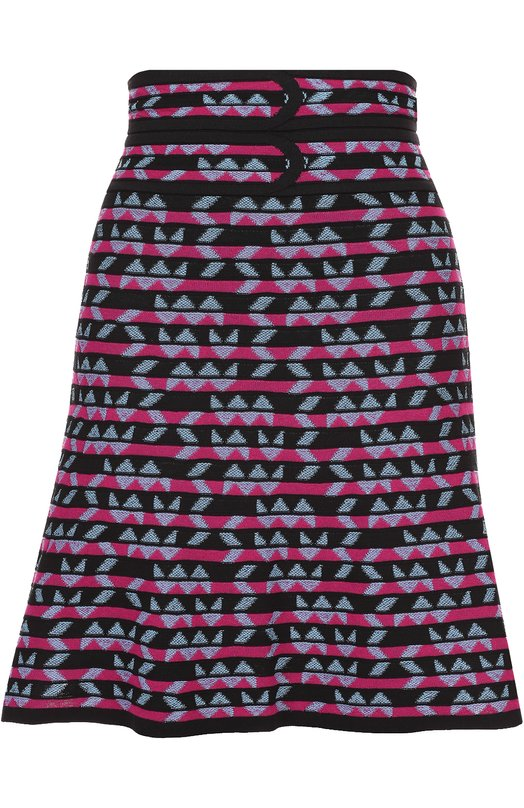 Мини-юбка в контрастную полоску с широким поясом M Missoni MD3KG06P/2DF