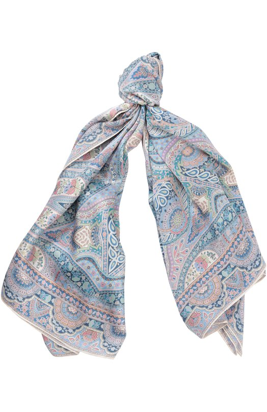 Купить Шелковый платок с принтом Michele Binda, 170011477, Италия, Разноцветный, Шелк: 100%;
