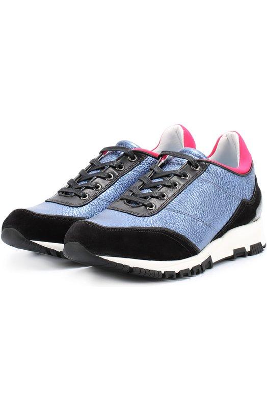 Комбинированные кроссовки с цветной вставкой Lanvin FW-SKDKA2-RUIA-A16