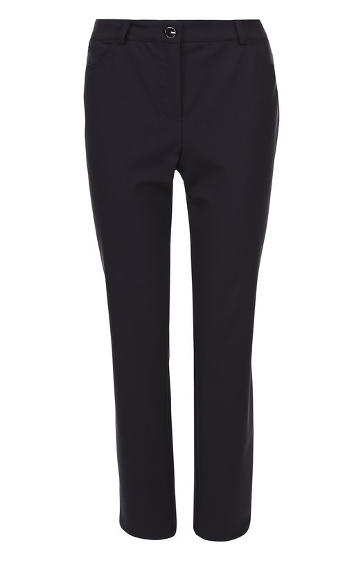 Укороченные джинсы-скинни с контрастной пуговицей Escada 5017177