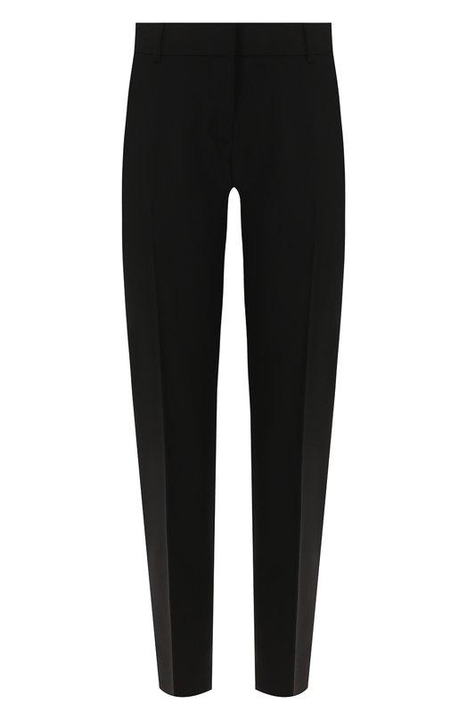 Купить Женские черные укороченные брюки прямого кроя со стрелками THEORY F0001210