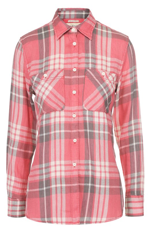 Блуза прямого кроя в клетку с накладными карманами Denim&Supply by Ralph Lauren 288597091