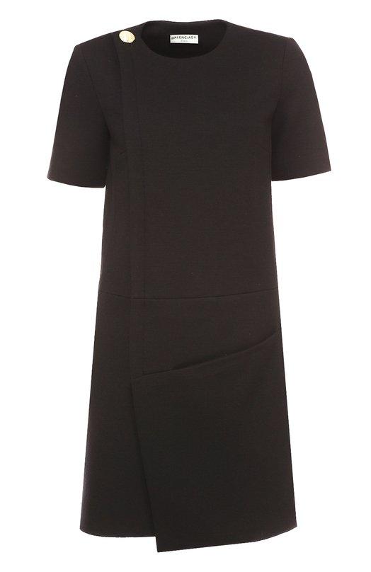 Мини-платье асимметричного кроя с коротким рукавом Balenciaga 436505/TKK19