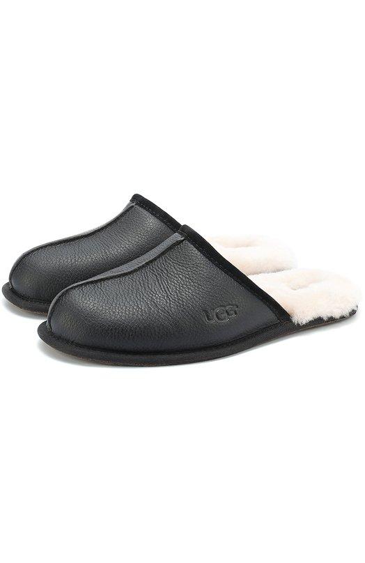 Кожаные домашние туфли с внутренней меховой отделкой UGG Australia 1001546