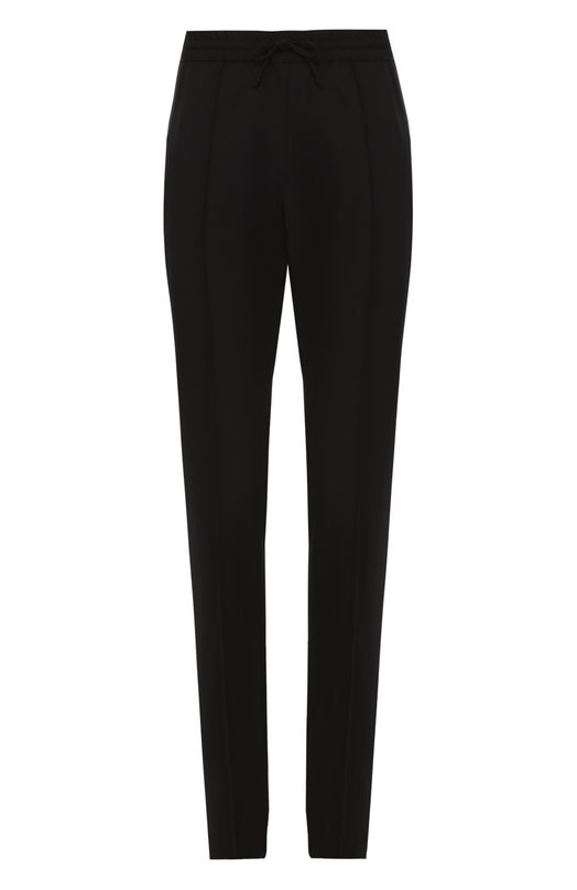 Шерстяные брюки прямого кроя с поясом на резинке Valentino LV3RB566/2L9