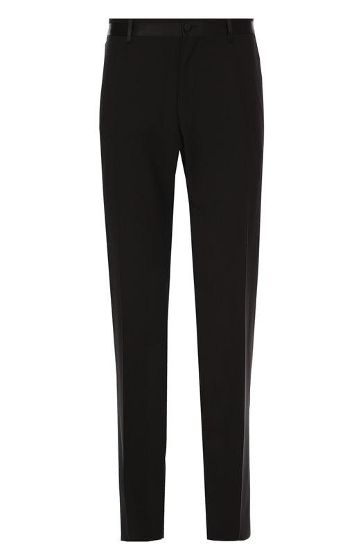 Брюки прямого кроя из смеси шерсти и шелка Dolce & Gabbana 0101/G6QXMT/FU2N2