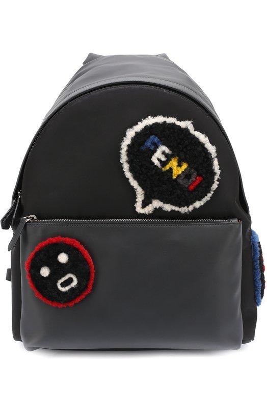 Кожаный рюкзак с меховой отделкой Fendi 7VZ012/6Y6