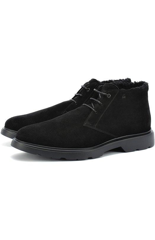 Замшевые ботинки с внутренней меховой отделкой Hogan HXM3040W870HG0