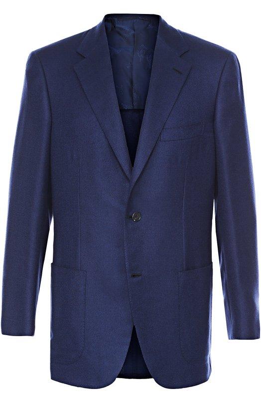 Однобортный пиджак из смеси кашемира и шелка Brioni RGH0/P6313/PARLAMENT0/2