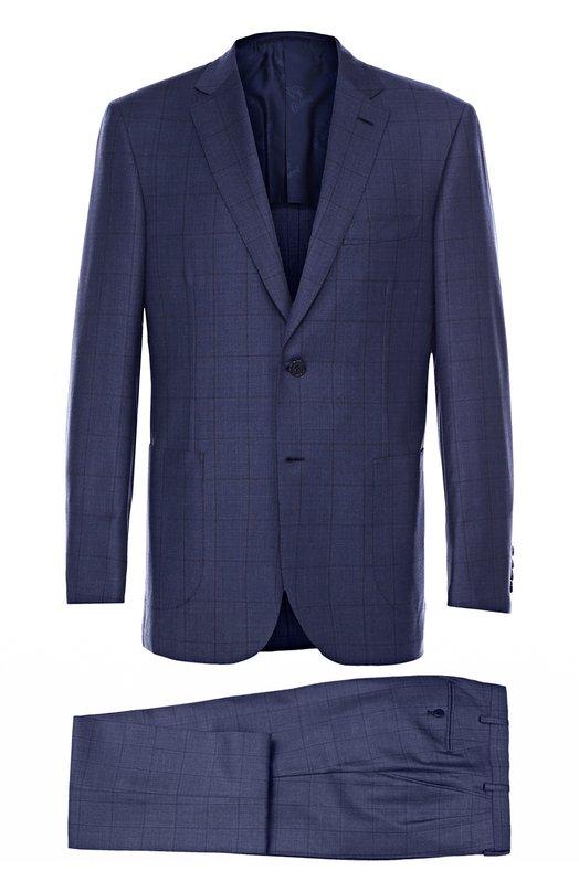 Шерстяной костюм в клетку Brioni RA00/P6AL4/BRUNIC0/2