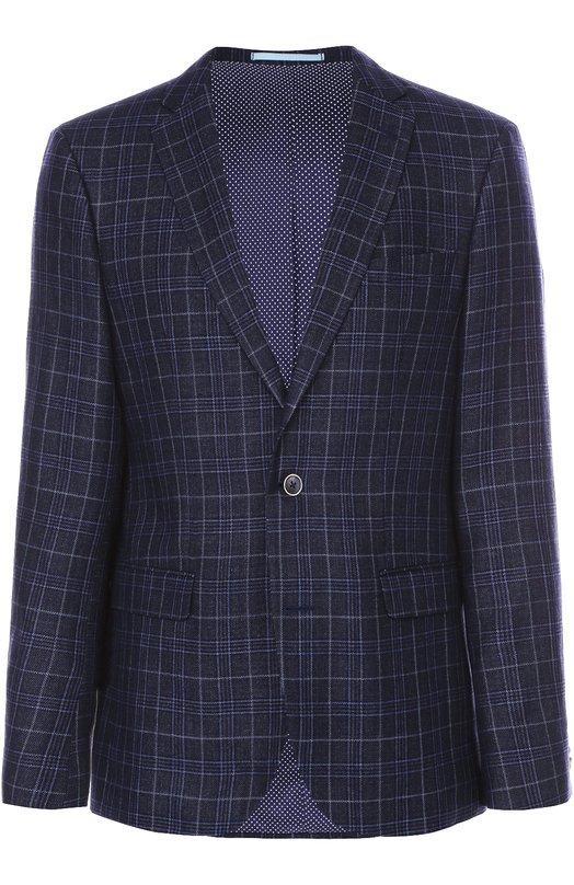 Однобортный пиджак из смеси шерсти и льна Sand 6929/STAR S0FT