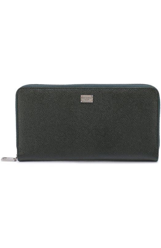 Купить Кожаное портмоне на молнии с отделением для кредитных карт Dolce & Gabbana Италия 5126634 0115/BP2219/A1001