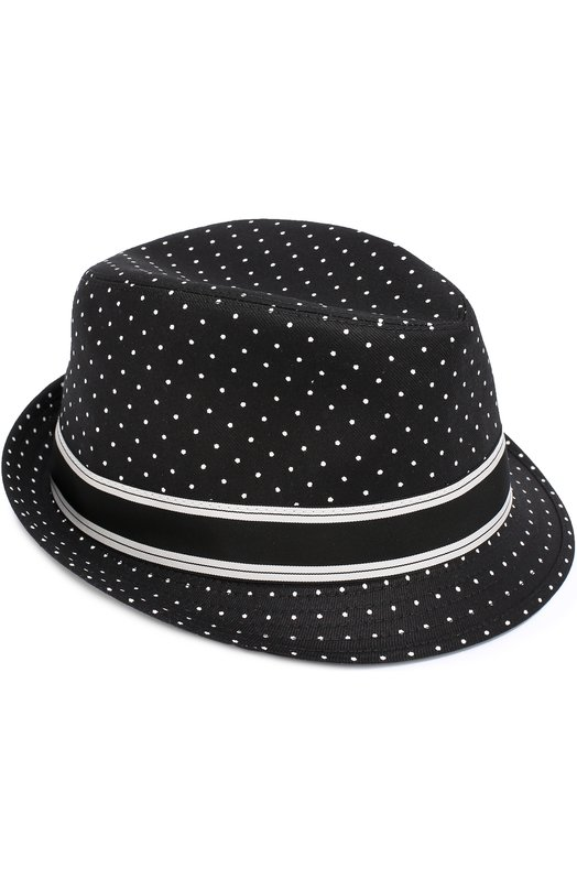 Хлопковая шляпа трилби с узором Polka Dot Dolce & Gabbana 0135/GH589A/FSFCT