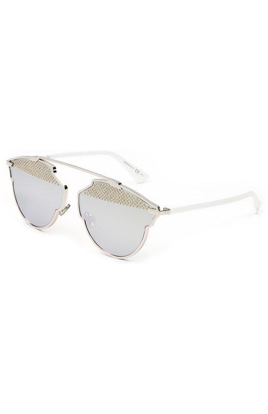 Солнцезащитные очки DiorОчки<br><br><br>Пол: Женский<br>Возраст: Взрослый<br>Размер производителя vendor: NS<br>Цвет: Серебряный