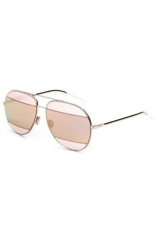 Купить Солнцезащитные очки Dior, DI0RSPLIT2 010, Италия, Серебряный